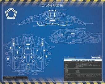 Cylon Raider 20x16 Print