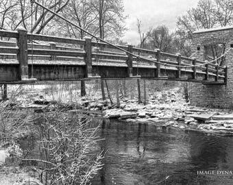 Menomonee River Bridge - 12x18 Metal Print