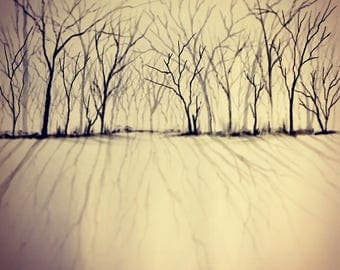 Drawing #12 / Deciduous Row