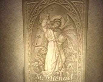 3D PLA Lithophane of St. Michael the archangel