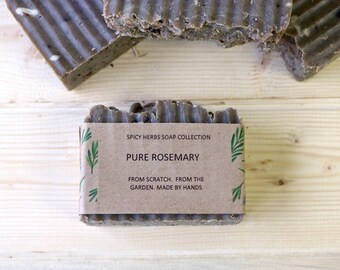 Pure Rosemary Soap -  Soap, Herbal Soap, Soap, Organic Soap, Natural Soap, Cold Process Soap, Vegan Soap, Handmade Soap