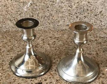 Vintage Silver Candlestick Holders - Set of 2