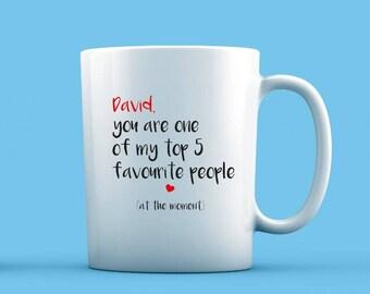My Top 5 Favourite People Mug