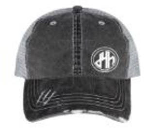 d4h Distressed Denim Fabric Hat
