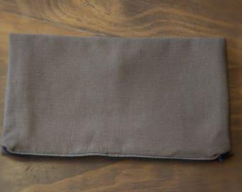Handmade Fold-over Denim Pouch