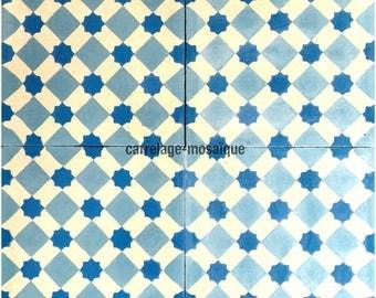 Cement Frizy blue tiles