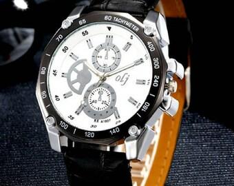 Luxury Fashion Men Leather Watch 70% Discount