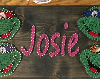 Kids name string art with image