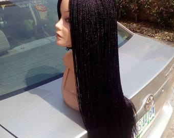 Braided wig box braid