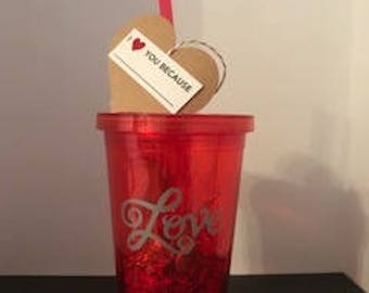Gift for Her Love Red Cup