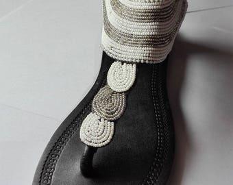 "Bead Sandals from Kenya - ""Nairobi"" Model"