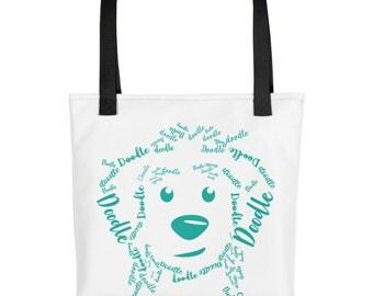 Teal Doodle - Tote bag - GoldenDoodle LabraDoodle BernaDoodle