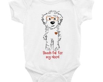 Thanksgiving Fall Doodle Baby Onesie - Baby Shower, goldendoodle, doodle, golden doodle, labradoodle turkey onesie