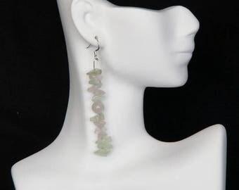 Rose Quartz and Aventurine Earrings