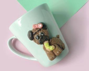 Mug Dog, gift Cup, Valentine Cup, coffee mug, couples cup, personalized mugs, gift mug, dog illustration