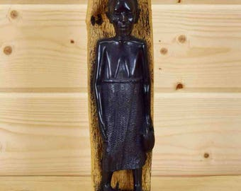 Hand Carved African Wooden Statue - SW3422
