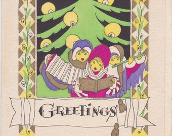 1920s vintage Christmas card