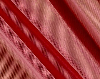 Katie CORAL English Netting Fabric by the Yard - 10067