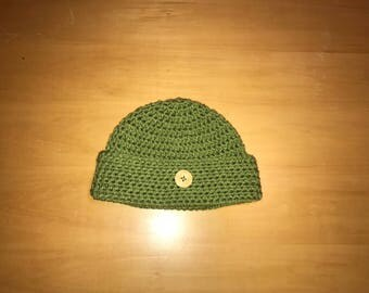 Beanie with button