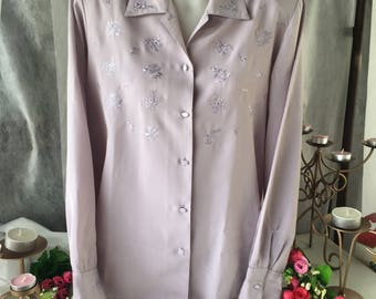 Lilac Polyester Blouse