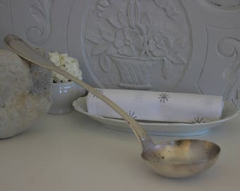 Soup laddle,silver plated .Silverware.