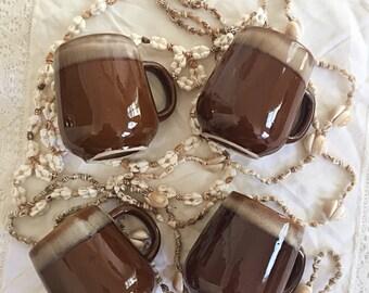 Set Of 4 Vintage Coffee Mugs