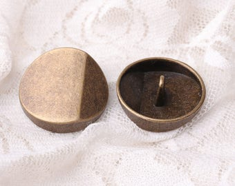 25mm 10pcs large round button bronze button coat button edgefold metal button