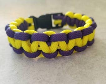 Yellow and Purple Paracord Bracelet