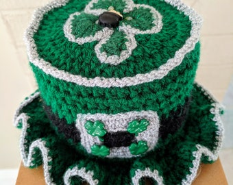 Irish Toilet Paper Tissue Roll Hat Cover Bathroom Decor St. Patrick's Day Shamrock M