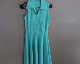 VINTAGE Mint Green Classic Dress