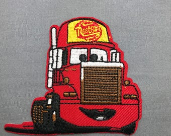 Iron on applique cars red truck patch embroidered