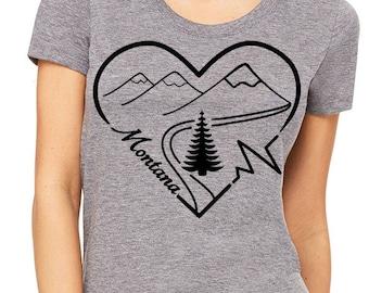 Montana Heart Beat - Super Soft Women's Shirt