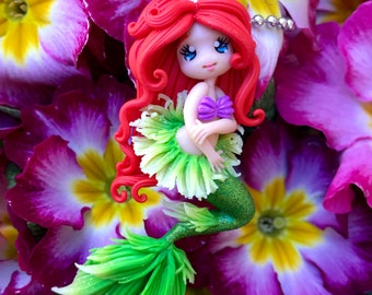 Little Mermaid necklace/Fimo polymer paste/Princess/Arimi Creations/Baby Gift/handmade