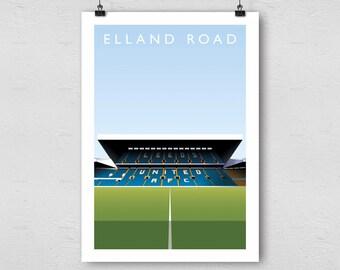 Leeds United Elland Road A3 Poster