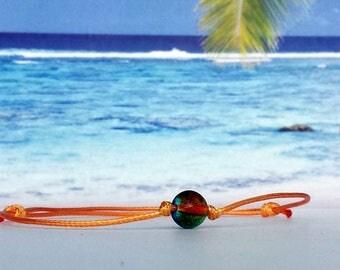 Wax Bracelet-Glass bead