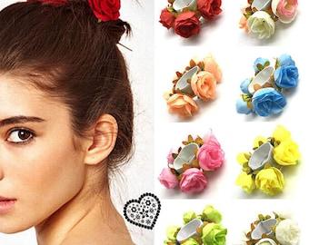 flower hair band etsy