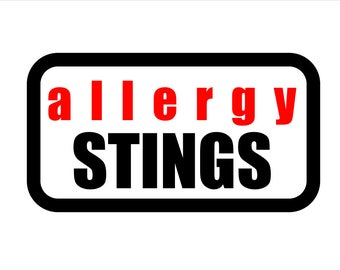 Medical Patch - ALLERGY STINGS - Embroidered