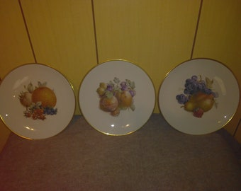 Set of 3 Eschenbach Bavaria Baronet China Salad Plates