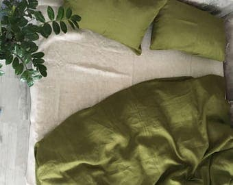 Bed linen green-gray