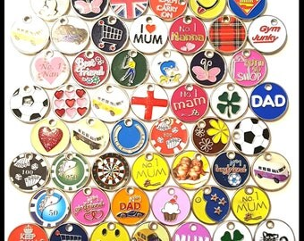 12 x old round trolley token keyrings