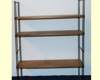 Vintage shelf 3 floors wood metal