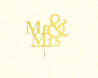 Gold Acrylic Mr & Mrs Topper