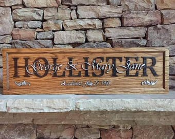 Custom carved wedding/anniversary plaques