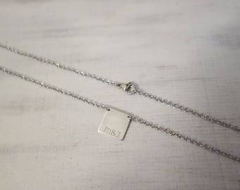 Necklace with 4eck pendant incl. personal engraving