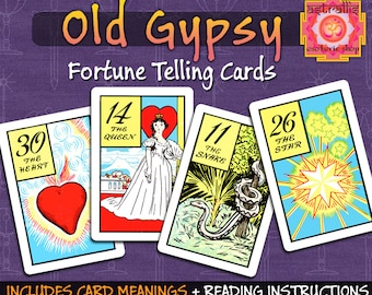 Old Gypsy Fortune Telling Cards | Printable Gypsy Cards | gypsy fortune telling cards | gypsy tarot cards | gypsy cards