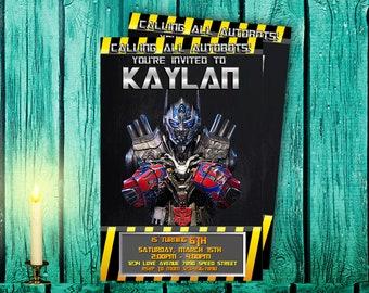 Transformer Invitation,Transformer Birthday,Transformer Party,Transformer Birthday Party,Transformer Birthday Invitation,Transformer-F0147