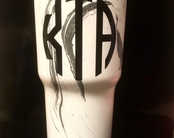 Hand Painted marble Tumbler