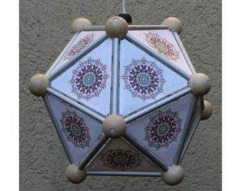 Pendant lamp, diameter 32 cm, icosahedron