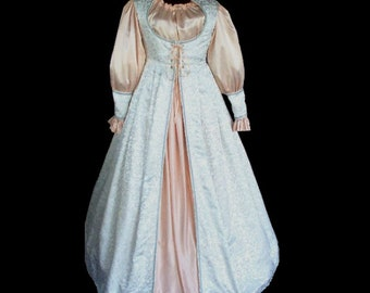 MADE TO ORDER Renaissance Faire Wedding Bridal Gown Dress, Your Size and Colors