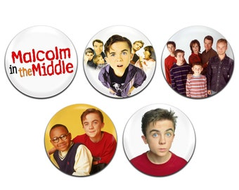 5x Malcolm In The Middle TV 25mm / 1 Inch D Pin Button Badges